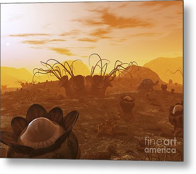 Artists Concept Of Animal And Plant Metal Print by Walter Myers