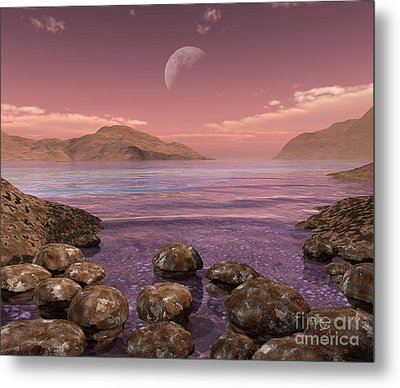 Artists Concept Of Archean Metal Print by Walter Myers