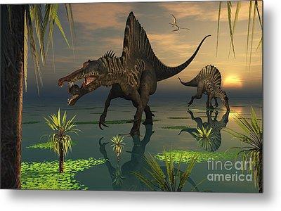 Artists Concept Of Spinosaurus Metal Print by Mark Stevenson