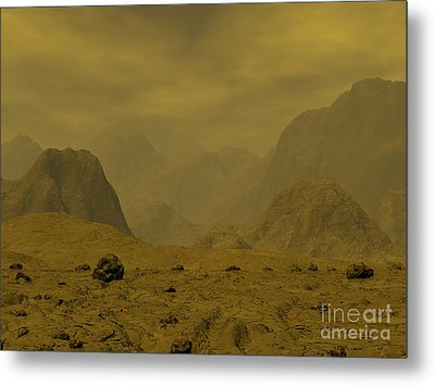 Artists Concept Of The Surface Of Venus Metal Print by Walter Myers