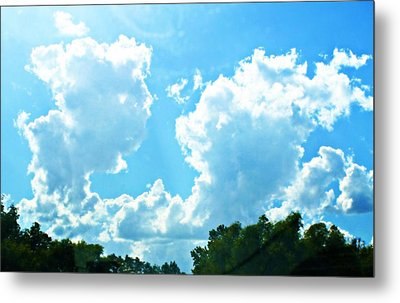 As Blue As The Sky Can Be Metal Print by Hannah Miller