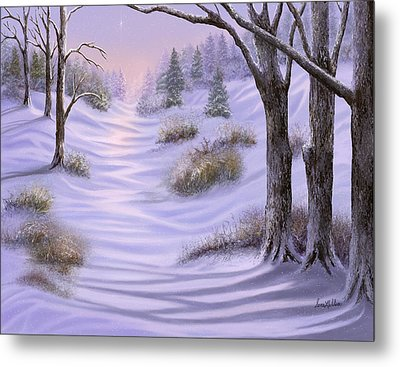As Snow Falls Comes Silence Metal Print