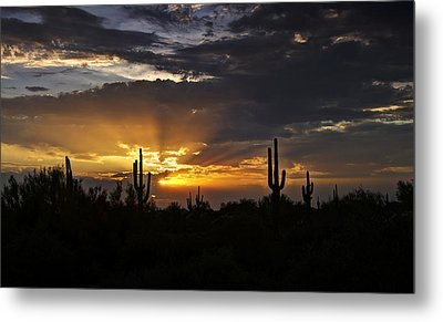 As The Sun Sets In The West  Metal Print by Saija  Lehtonen