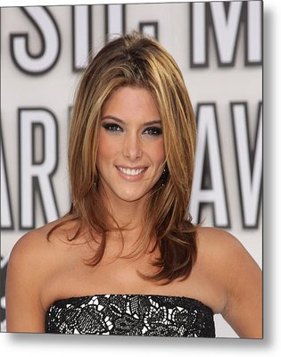 Ashley Greene At Arrivals For 2010 Mtv Metal Print by Everett