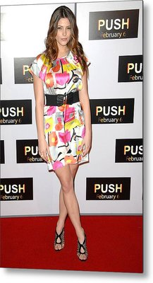 Ashley Greene At Arrivals For Push Metal Print by Everett