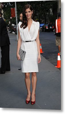 Ashley Greene Wearing A Salvatore Metal Print by Everett