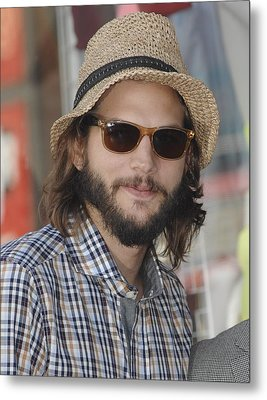 Ashton Kutcher At The Induction Metal Print by Everett