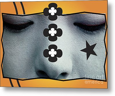 Metal Print featuring the digital art Asian Flower by Christine Perry