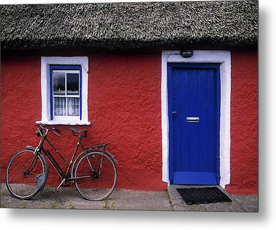 Askeaton, Co Limerick, Ireland, Bicycle Metal Print by The Irish Image Collection