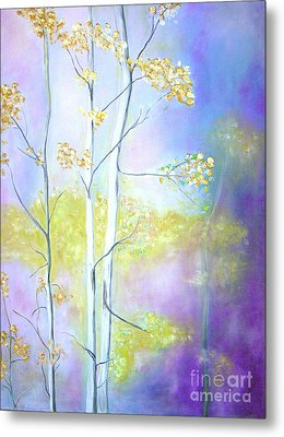 Metal Print featuring the painting Aspens  by Barbara Anna Knauf