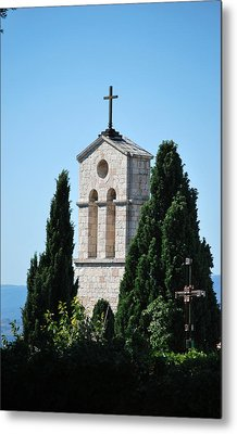 Metal Print featuring the photograph Assisi Crosses by Amee Cave