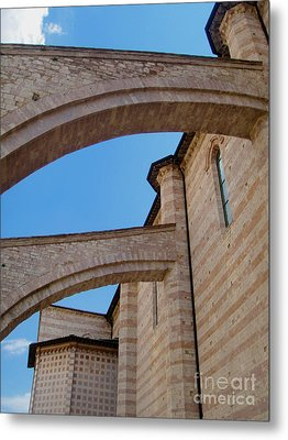 Assisi Italy - Basilica Of Santa Chiara Metal Print by Gregory Dyer