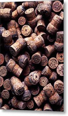 Assorted Champagne Corks Metal Print by Garry Gay