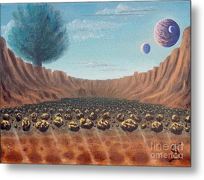 Asteroid Field From Arboregal Metal Print