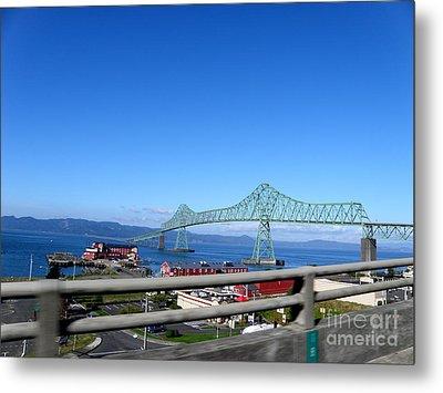 Astoria Bridge Metal Print by Tanya  Searcy