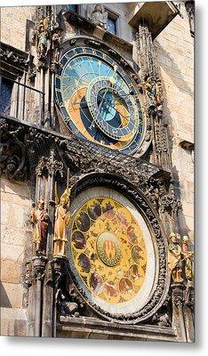 Astronomical Clock In Prague Metal Print by Artur Bogacki
