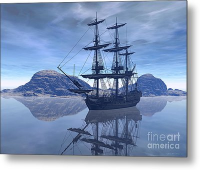 Metal Print featuring the digital art At Destination by Sipo Liimatainen