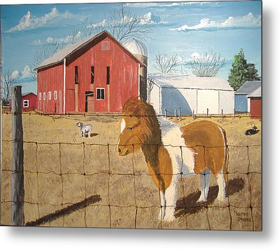 Metal Print featuring the painting At Home by Norm Starks