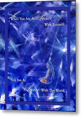 At Peace Metal Print by The Art With A Heart By Charlotte Phillips