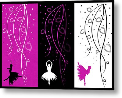 At The Ballet Triptych 2 Metal Print by Angelina Vick