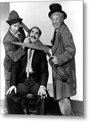 At The Circus, From Left Chico Marx Metal Print