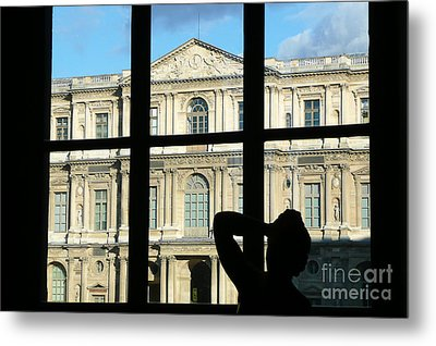 At The Louvre Metal Print by Bob and Nancy Kendrick