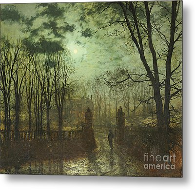 At The Park Gate Metal Print by John Atkinson Grimshaw