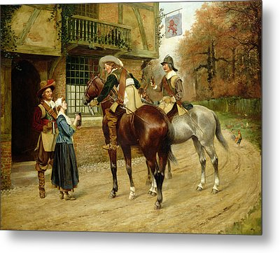 At The Red Inn Metal Print by George Derville Rowlandson