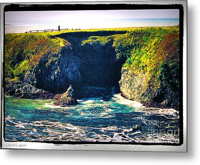 At The Seaside Metal Print by Happy Walls