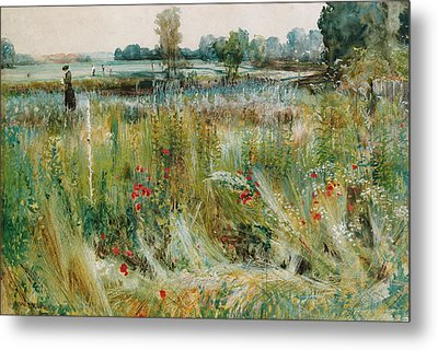 At The Water's Edge Metal Print by John William Buxton Knight
