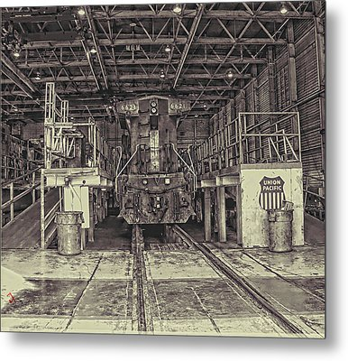 At The Yard Metal Print