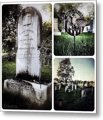 At This Small Rural Cemetery In Metal Print by Natasha Marco