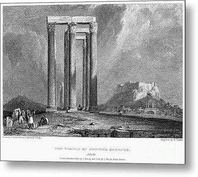Athens: Olympian Zeus Metal Print by Granger