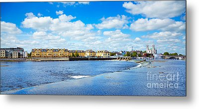 Athlone City And Shannon River Metal Print by Gabriela Insuratelu