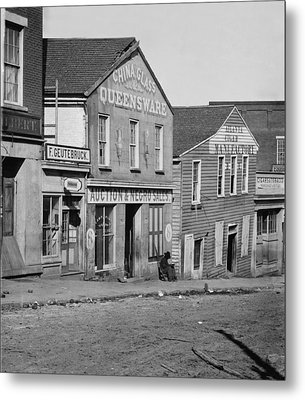 Atlanta, Georgia, Slave Auction House Metal Print by Everett
