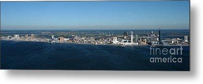 Atlantic City Skyline Panoramic Metal Print