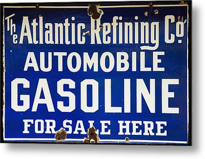 Atlantic Refining Co Sign Metal Print by Bill Cannon