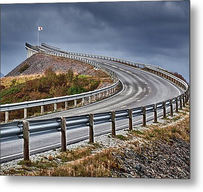 Atlantic Road Metal Print