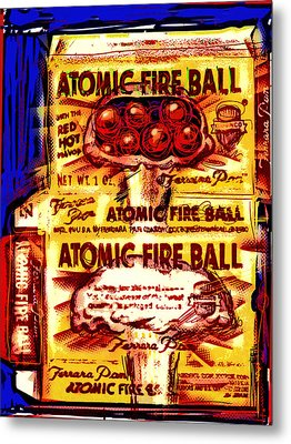 Atomic Fire Ball Metal Print by Russell Pierce