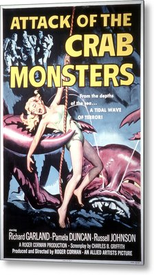 Attack Of The Crab Monsters, Poster Metal Print by Everett