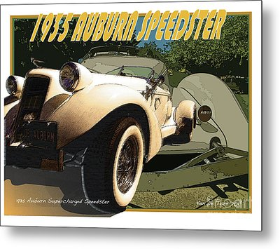 Auburn Speedster Metal Print by Kenneth De Tore