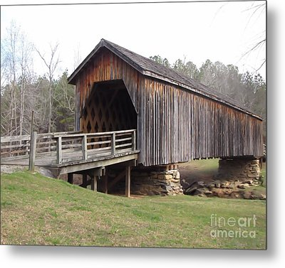Auchumpkee Creek Bridge Metal Print by Michelle H