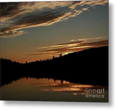 August Lake Sunset Metal Print by Donna Cavanaugh
