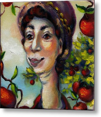 Aunt Berta Metal Print by Mary J Russell