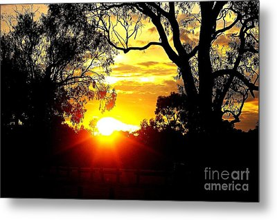 Metal Print featuring the photograph Aussie Sunset by Blair Stuart