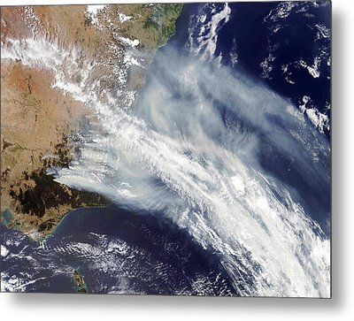 Australian Bush Fire Smoke Metal Print by Nasa