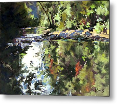 Metal Print featuring the painting Australian Escape by Rae Andrews