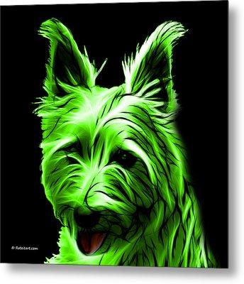 Australian Terrier Pop Art - Green Metal Print by James Ahn