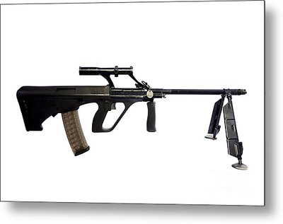 Austrian 5.56mm Steyr Aug Light Support Metal Print by Andrew Chittock