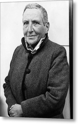 Author Gertrude Stein, 1934 Metal Print